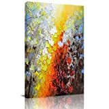 Home Decor Canvas Wall Art Painting, Abstract Brightwood Colorful Grove Prints, Morden Artwork Framed for Living Room Wall Decorations Ready to Hang 12'x18'