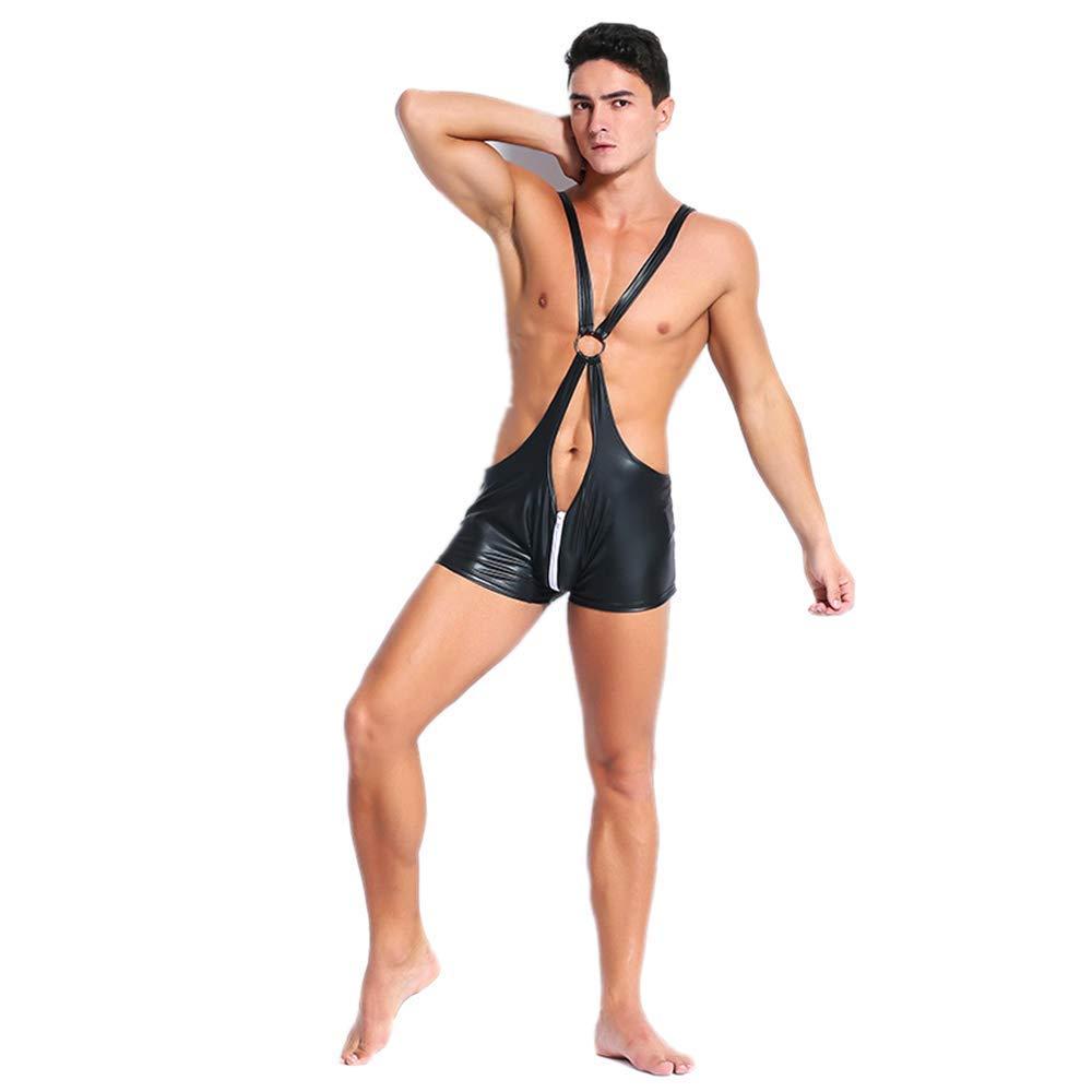 GYH Sexy Dessous Herren Bodysuit Leder Catsuit Body Leotard Anzug Nachtclub Bar Kostüme B07KG85HKX Kostüme für Erwachsene Produktqualität | Schenken Sie Ihrem Kind eine glückliche Kindheit