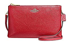 Coach Lyla Crossbody Bag In Pebble Leather True Red/Gold F38273