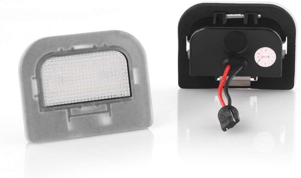 2 luces LED para matr/ícula Canbus Plug/&Play con certificado E V-031501