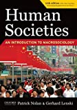 Human Societies 11th Edition Study Guide, Lenski, Gerhard and Nolan, Patrick, 1594516693