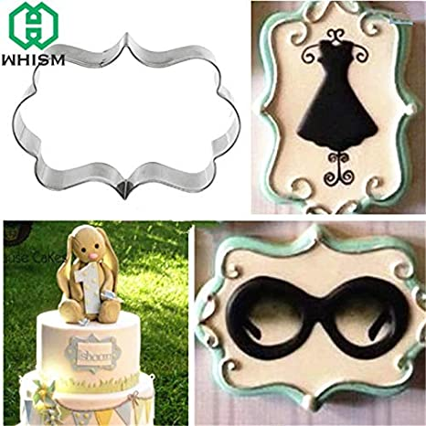 Amazon.com: 1 lot WHISM 4pcs Stainless Steel Cookie Cutter Frame DIY Biscuit Pastry Stamps Fondant Cake Decor Mold cortadores de galletas de metal: Kitchen ...