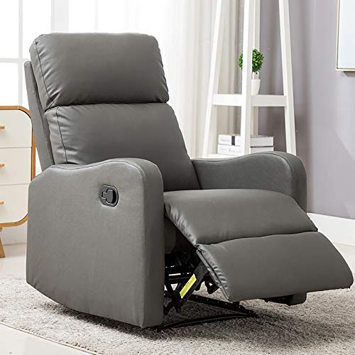 ANJ Chair Contemporary Leather Recliner Chair for Modern Living Room Classic Grey Casual Living Room Chairs