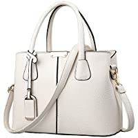 FiveloveTwo Women Classy Satchel Handbags and Purse Tote Top-handle PU Leather Shoulder Bag