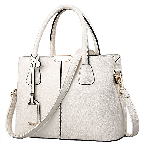 White Satchel Handbags - 5