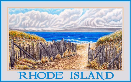 Northwest Art Mall Rhode Island Beach Dunes by David Linton Wall Decor, 11-Inch by - Island Mall Rhode Of
