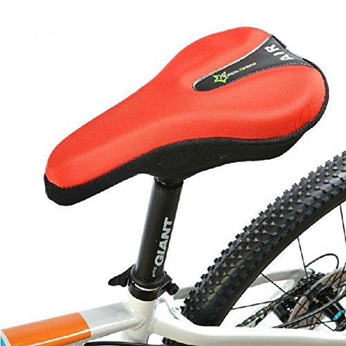 Moppi Bicicletas silla cubierta moto cojín del asiento almohadilla de gel 3d cola reflectante