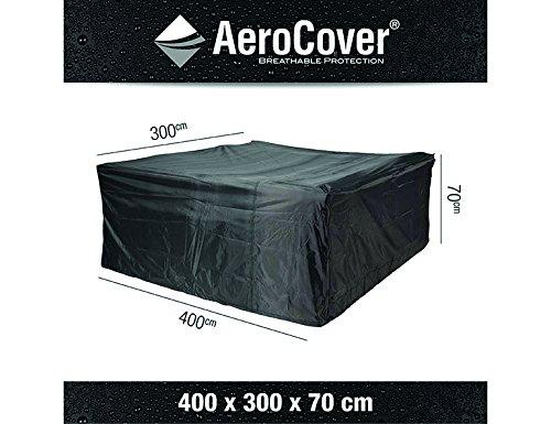 Atmungsaktive, frostbeständige und wasserdichte AeroCover Schutzhülle in anthrazit für Lounge Möbel, in praktischer Tragetasche, 400 x 300 x 70 cm, 7936