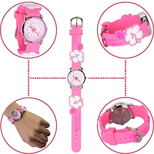 Kids Watch my first Easy Reader Wrist Watches Boys Girls Toddler Waterproof Children Time Teacher 3D Cute Cartoon Silicone Quartz Learning Gift for Little Child by Meetyoo (Image #2)