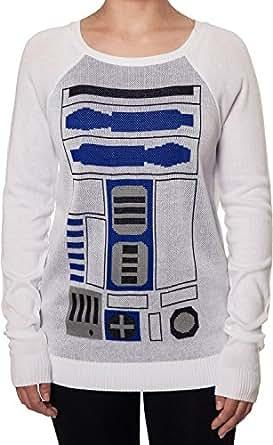 Ladies Star Wars R2D2 Sweater White Medium