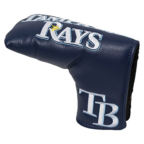 New TEAM GOLF MLB Tampa Bay Rays Golf Club Vintage Blade Putter Headcover, Form Fitting Design, Fits Scotty Cameron, Taylormade, Odyssey, Titleist, Ping, Callaway