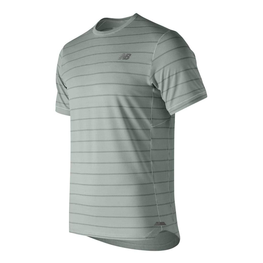 bb266ba8e24fe Amazon.com: New Balance Mens Seasonless Breathable Lightweight Short Sleeve  Running T-Shirt: Sports & Outdoors