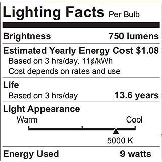 LED Light Bulbs 60 Watt Equivalent, 5000K Daylight A19 LED Bulbs, E26 Base, 750LM Non-Dimmable UL Listed, 4 Pack