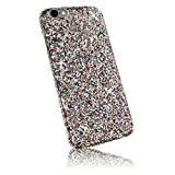 "Xtra-Funky Range iPhone 6 / 6S (4.7"") Sparkling Rainbow Sequin Glitter Case - Silver"