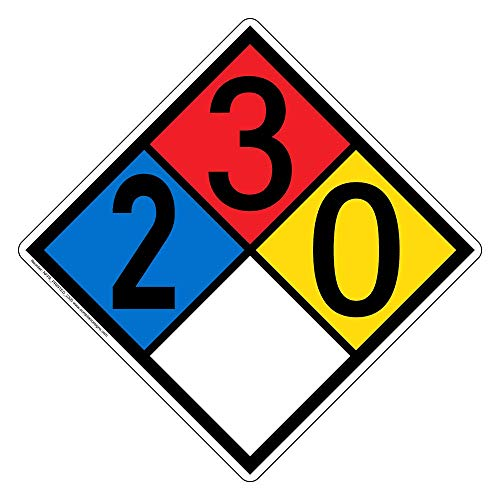 NFPA 704 2-3-0-0 Label Decal, 10 inch Vinyl for Hazmat by ComplianceSigns