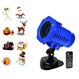 Animated Projector Light 2018 New LED Projection Night Light for Kids with Remote Control Holiday Christmas Halloween Decorations Waterproof IP65 Dynamic Lighting Outdoor Landscape for Garden