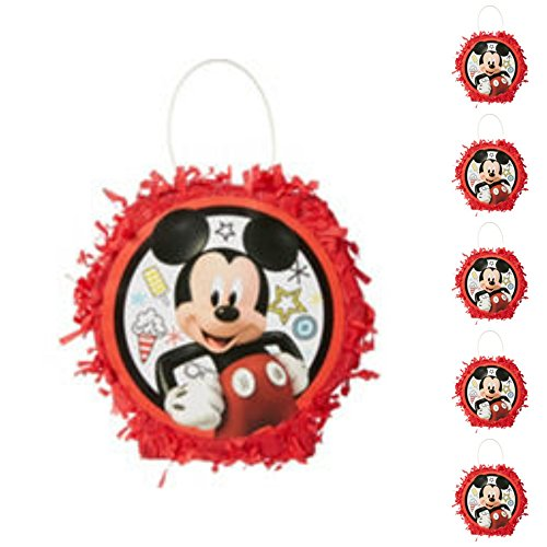 Mickey Mouse Mini Size Pinata Favor Container (set of 8) Birthday Party Supplies]()