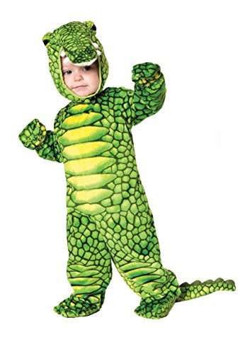 Baby Crocodile Costumes (Underwraps Costumes Baby's Alligator Costume Jumpsuit, Green/Black, Medium)
