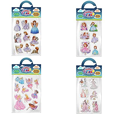 Fairies and Princesses Bundle Removable Gel and Window Clings for Kids, Toddlers - Magic, Castles, Wands, Unicorns and More! - Incredible Gel Decals for Glass, Walls, Rooms, Home: Arts, Crafts & Sewing [5Bkhe0404584]