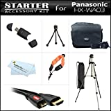 Starter Accessories Kit For The Panasonic HX-WA03 Dual Waterproof HD Digital Camcorder Includes Deluxe Carrying Case + 50 Tripod With Case + Micro HDMI Cable + USB 2.0 Card Reader + FLOAT STRAP + Mini TableTop Tripod + MicroFiber Cleaning Cloth