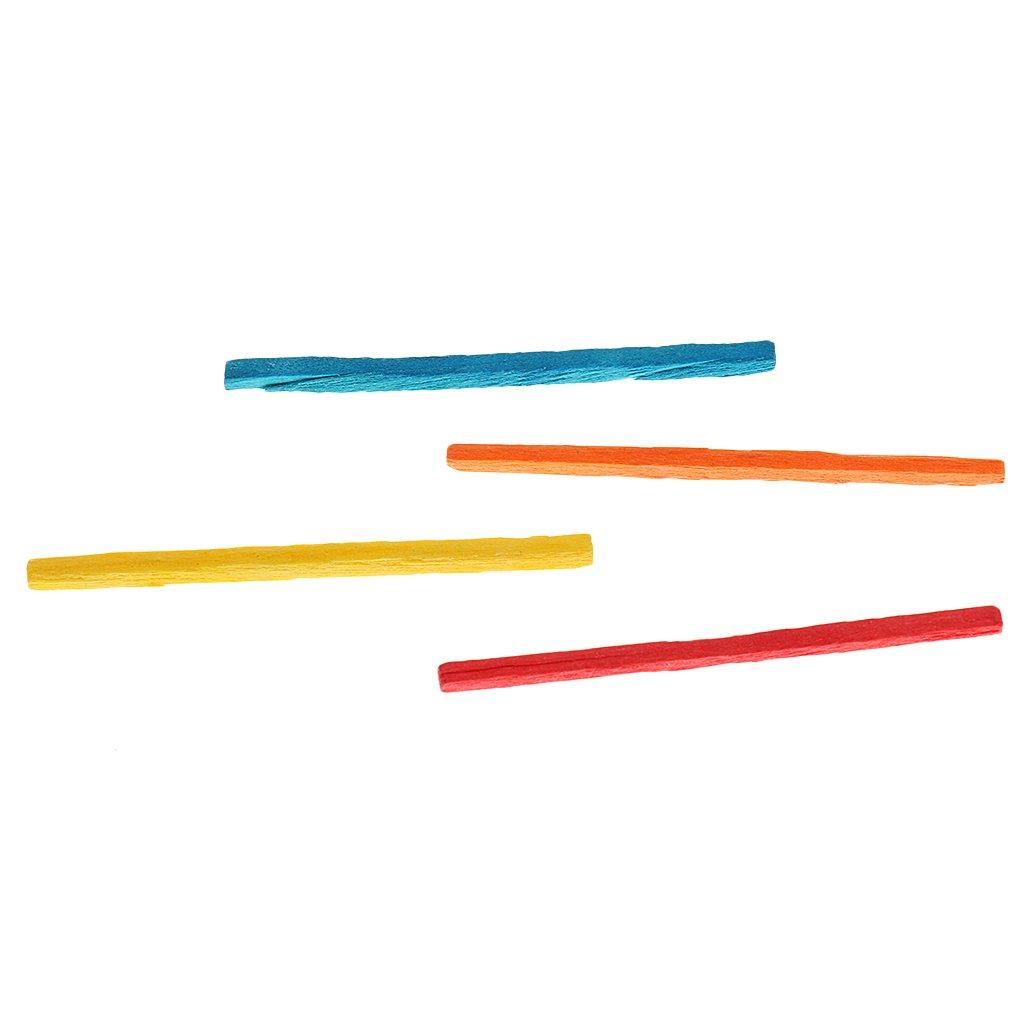 Hellery 1000pcs DIY Craft Sticks Matchstick Tongue Depressors Jumbo Rainbow Timber