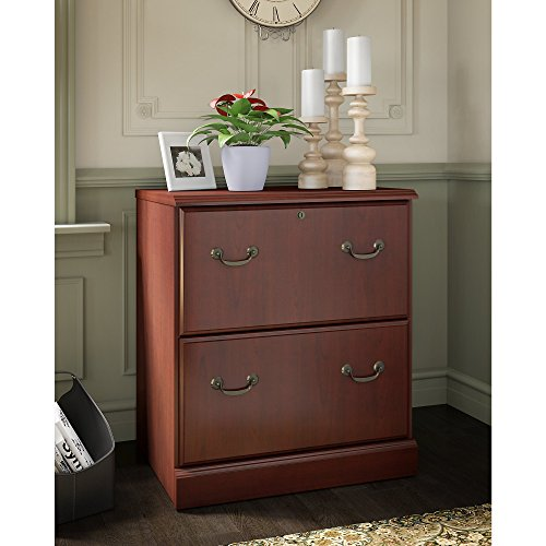 kathy ireland Office by Bush Furniture Bennington 2 Drawer Lateral File Cabinet in Harvest Cherry by kathy ireland Home by Bush Furniture (Image #2)