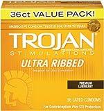 Trojan Ultra Ribbed, 36ct