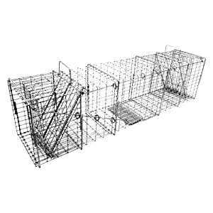 Tomahawk Original Series Heavy Duty Rigid Trap with Two Trap Doors for Large Groundhogs/Otters/Raccoons