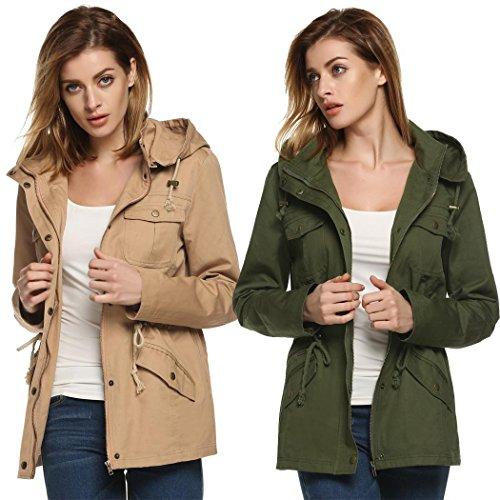 Hoodie-JacketWomens-Winter-Military-Anorak-Hoodie-Coat-Jacket-Outerwear-Overcoat