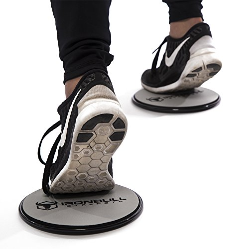 Gliding Discs (1 Pair Core Sliders) Full Body Workout Video Included Dual Sided Sliding Discs for Use on Carpet or Hardwood Floors Great for Full Body Workout, CrossFit, Cross Training