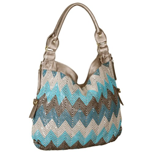 BIG BUDDHA Jcourtny Hobo,Turquoise,One Size, Bags Central