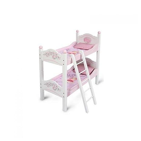 Decuevas Toys - Maria, litera de Madera con Escalera Convertible con colchones y Almohadas,