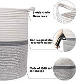 INDRESSME Large Cotton Rope Basket 14.2'' x