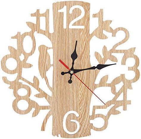 LOVIVER Horloge Murale En Bois En Forme Darbre De 22 Cm 22cm