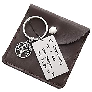 Gifts for Dad Keychain – Engraved Keychain Fathers Day Birthday Jewelry Gifts