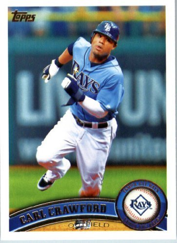Crawford Tampa Carl Bay - 2011 Topps Baseball Card #25 Carl Crawford - Tampa Bay Rays - MLB Trading Card