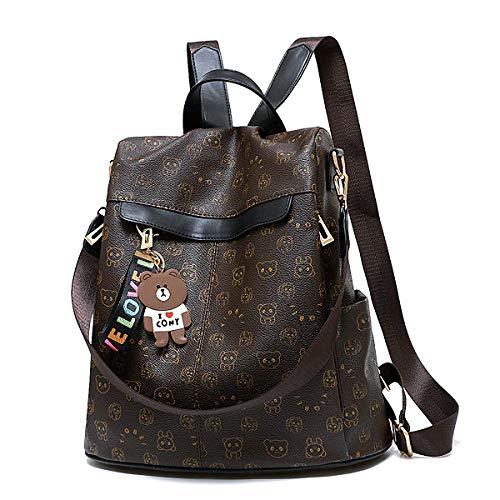 GuaziV Women Backpack Waterproof Nylon Anti-theft Fashion Bag Lightweight School Shoulder Bags (light ()