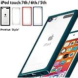 【カラー:】iPod touch 第7世代 2019 ガラスタフケース シンプル ハイブリッド クリア ケース カバー クリアケース ソフト ハード クリアケース ブラック ホワイト レッド ネイビー 第6世代 2015 第5世代 16GB 2014 第5世代 2012 アイポッドタッチ スマホカバー スマホケース s-pg_7c653