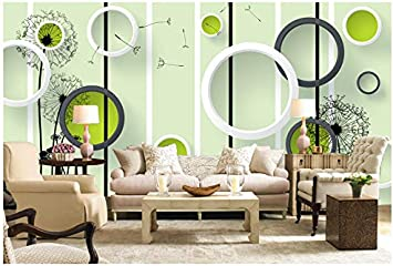 3d Wallpaper Mural Silk Cloth Dandelion 3d Stereo Circle Tv Background Wall 400x280cm Ayzr Amazon Com