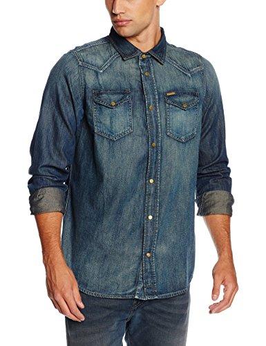 Diesel Logo Tops T shirts New-Sonora Camicia, Camisa para Hombre Azul