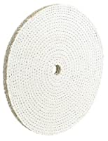 """AES Industries 6"""" x 1/2"""" Sisal Buffing Wheel for Hard Metals"""