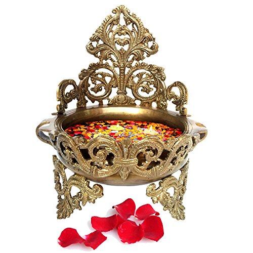 Decorative Brass Urli - Floating Flower - Flower Vase Brass