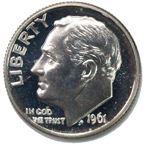 1961 P Roosevelt Proof Dime 10c Gem