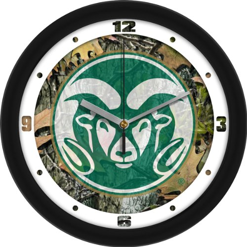 Rams Wall Clock - Camo (Ncaa Colorado State Rams Glass)