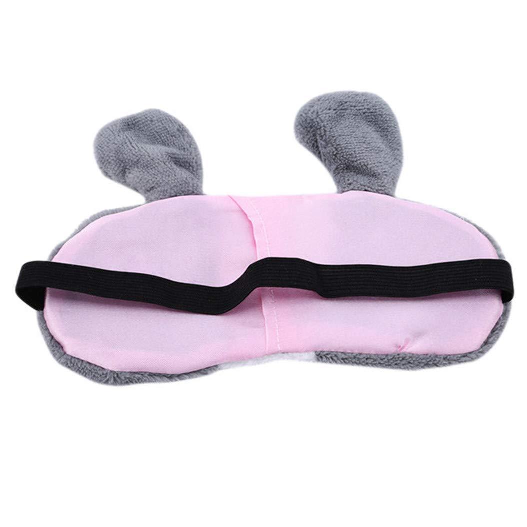 LZIYAN Sleep Eye Mask Lovely Cartoon Rabbit Eye Mask Portable Eyepatch Cute Blocks Out Light Blindfold For Home Travel,Gray by LZIYAN (Image #4)