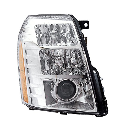 HEADLIGHTSDEPOT Chrome Housing HID 2nd Design Headlight Compatible with Cadillac Escalade ESV EXT Includes Right Passenger Side Headlamp