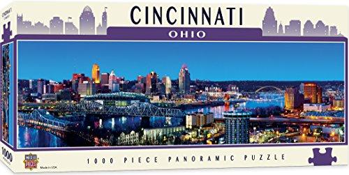 MasterPieces American Vistas Panoramic Cincinnati Jigsaw Puzzle, 1000-Piece