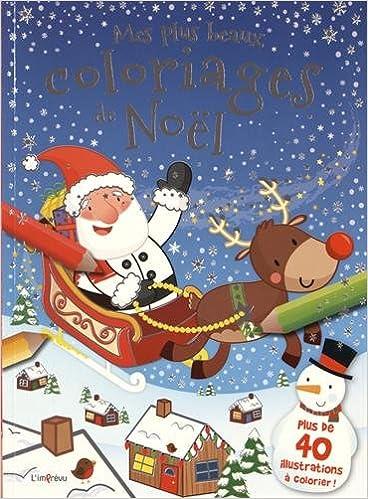 Livre Mes plus beaux coloriages de Noël epub, pdf