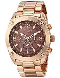 August Steiner Men's AS8129RG Analog Display Swiss Quartz Rose Gold Watch