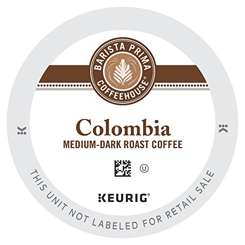 (Barista Prima Coffeehouse Medium Dark Roast Extra Bold K-Cup for Keurig Brewers, Colombia Coffee 24 count (Pack of 4) (Packaging May Vary) )